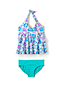 Little Girls' Frill Halterneck Tankini Set
