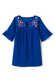Girls Woven Embroidered Swim Cover-Up