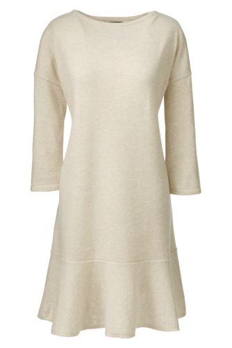 Women's Soft Leisure Cashmere Ruffle Hem Dress