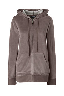 Women's Soft Leisure Velour Zip Hoodie