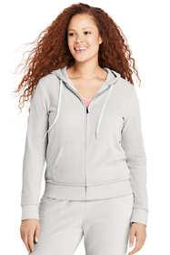 Women's Plus Size Velour Zip Hoodie