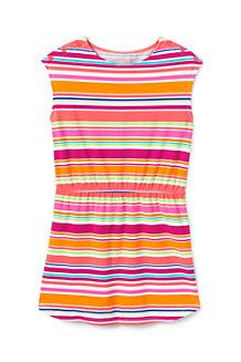 Girls' T-shirt Dress with Boatneck