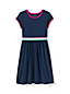 Toddler Girls' Short Sleeve Dress, Colourblock Cotton Jersey