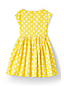 Girls' Party Dress in Printed Cotton Ottoman