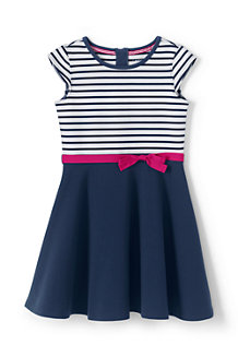 Girls' Skater Dress in Ponte Jersey