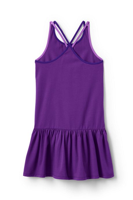 Girls Strappy Colorblock Tank Dress