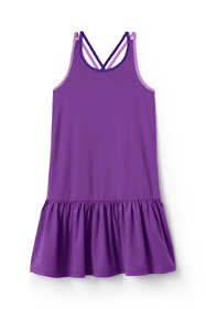 Girls Strappy Colorblock Tank Dress