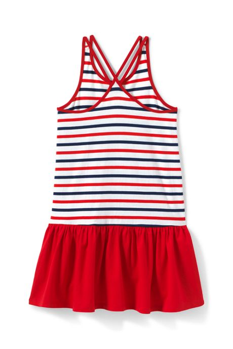 Girls Plus Strappy Pattern Tank Dress