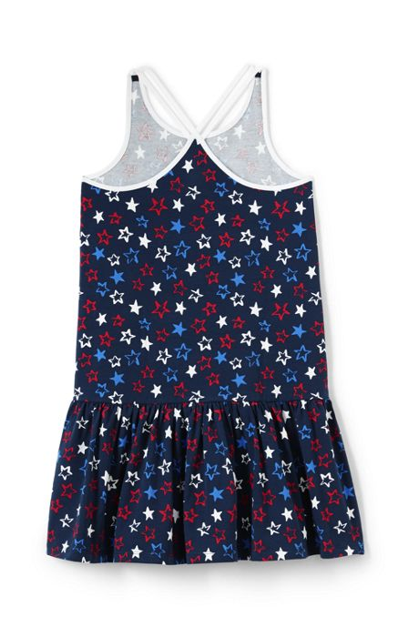 Girls Strappy Pattern Tank Dress