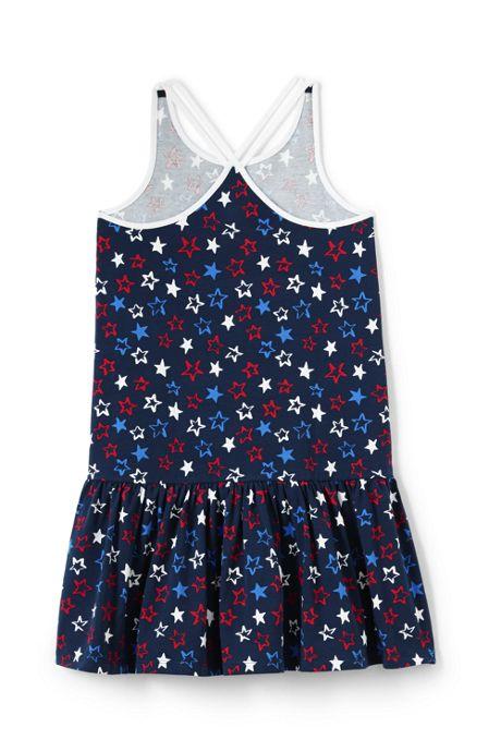 Girls Strappy Pattern Tank Dress
