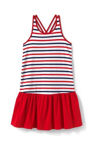 Little Girls' Print Strappy Sun Dress