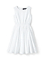 Girls' Sleeveless Dress in Broderie Anglaise