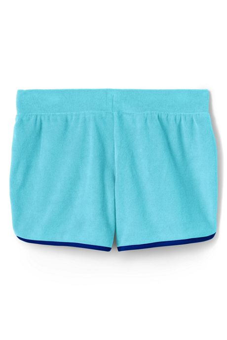 Girls Curved Hem Knit Shorts