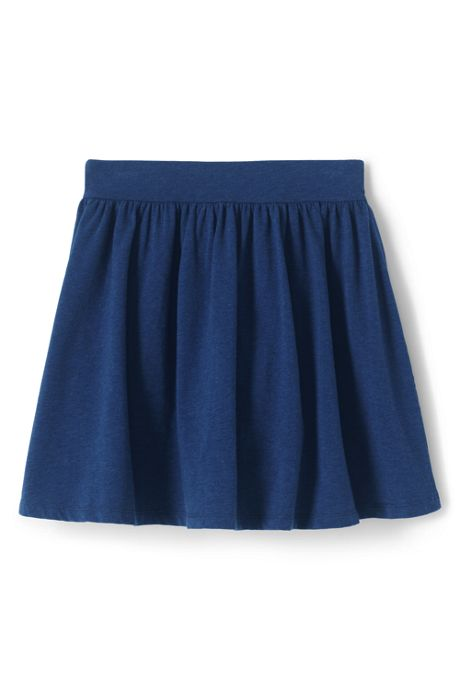 Little Girls Gathered Solid Skort
