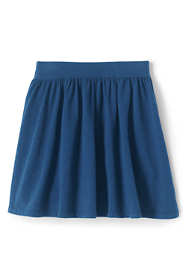 School Uniform Little Girls Gathered Solid Skort