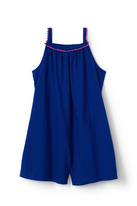 Girls Plus Gathered Neck Romper