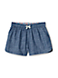 Toddler Girls' Chambray Pull-on Shorts