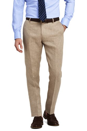 Womens Petite Tailored Fit Chinos - 10 - BROWN Lands End