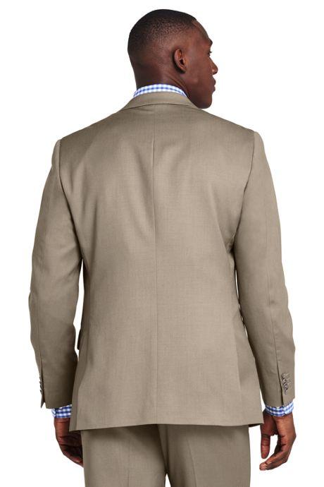 Men's Traditional Fit Wool Gabardine Sport Coat