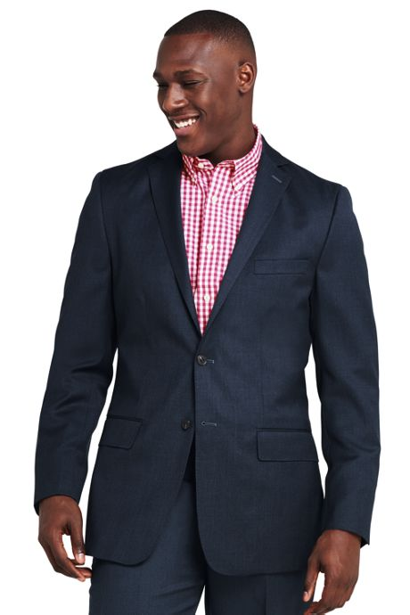 Men's Traditional Fit Wool Gabardine Sport Coat