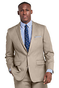 7e0398bdef3 Men s Traditional Fit Wool Gabardine Sport Coat. Taupe  Navy Heather