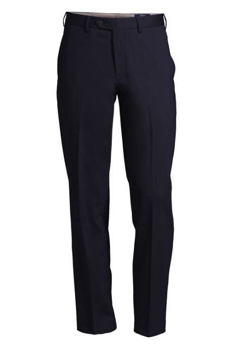 Men's Traditional Fit Comfort First Plain Front Year'rounder Trousers