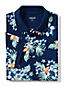Men's Tropical Print Piqué Polo Shirt