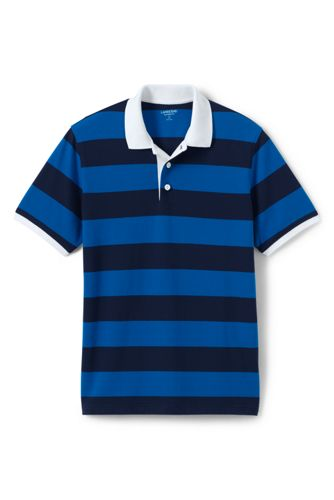 Men's Rugby Stripe Piqué Polo Shirt