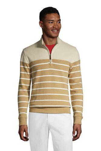 Zipper-Pullover aus Bedford-Ripp mit Bretonstreifen für Herren