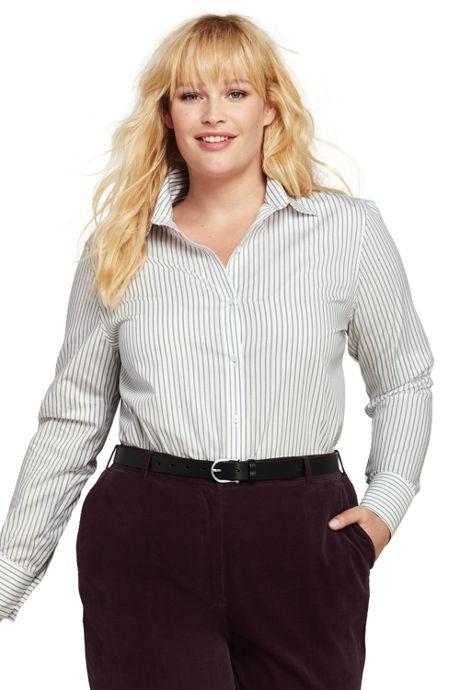 Women's Plus Size Easy Care Dress Shirt
