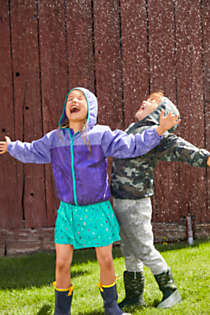 Kids Waterproof Rain Jacket, Unknown