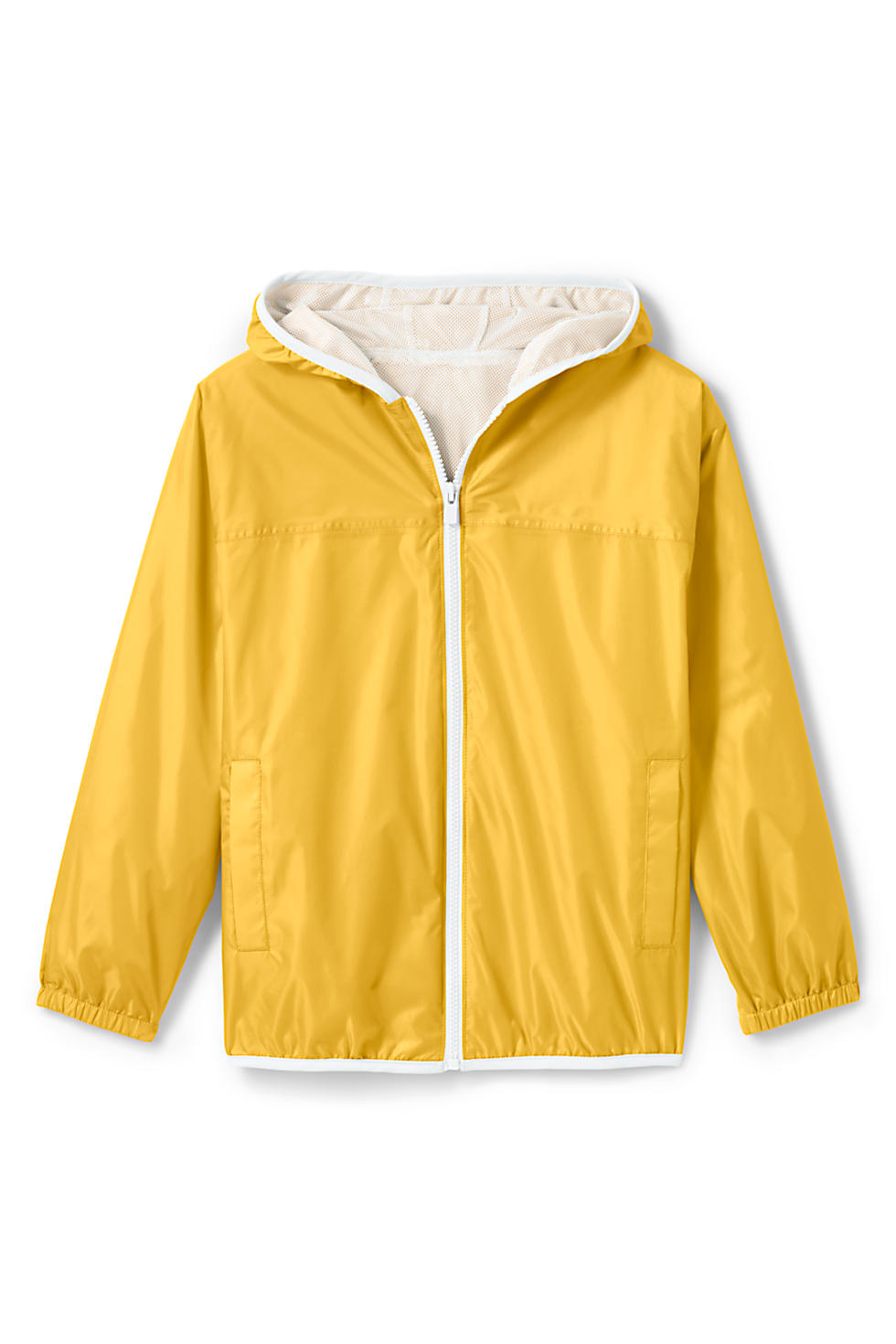 Lands End Kids Waterproof Rain Jacket (Atlas Yellow)