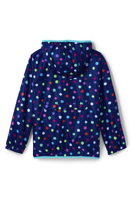 School Uniform Kids Waterproof Print Rain Jacket