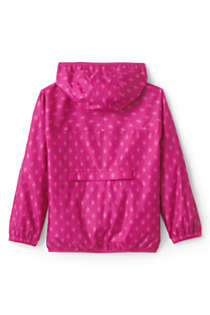 Kids Waterproof Print Rain Jacket, Back