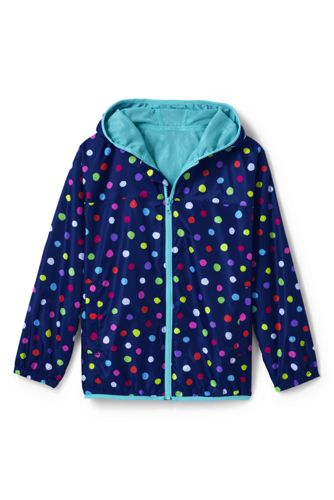 Little Kids' Patterned Packable Waterproof Jacket