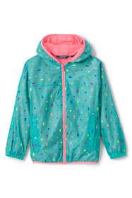 Little Kids Waterproof Print Rain Jacket