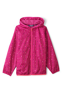 Kids' Patterned Packable Waterproof Jacket