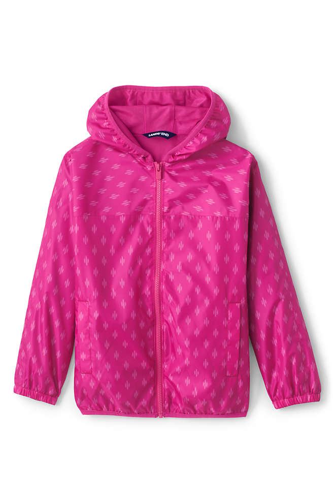 Kids Waterproof Print Rain Jacket, Front