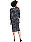 Women's Printed Pleat Front Ponte Dress