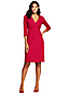 Women's Three-quarter Sleeve Ponte Jersey Wrap Dress