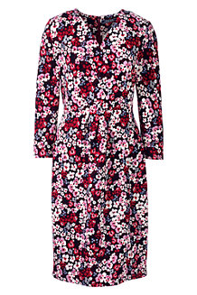 Women's Floral Pattern Ponte Wrap Dress
