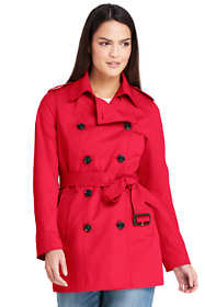 Women's Petite Cropped Trench Coat