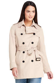 Women's Cropped Trench Coat