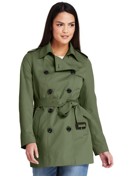 Women's Tall Cropped Trench Coat
