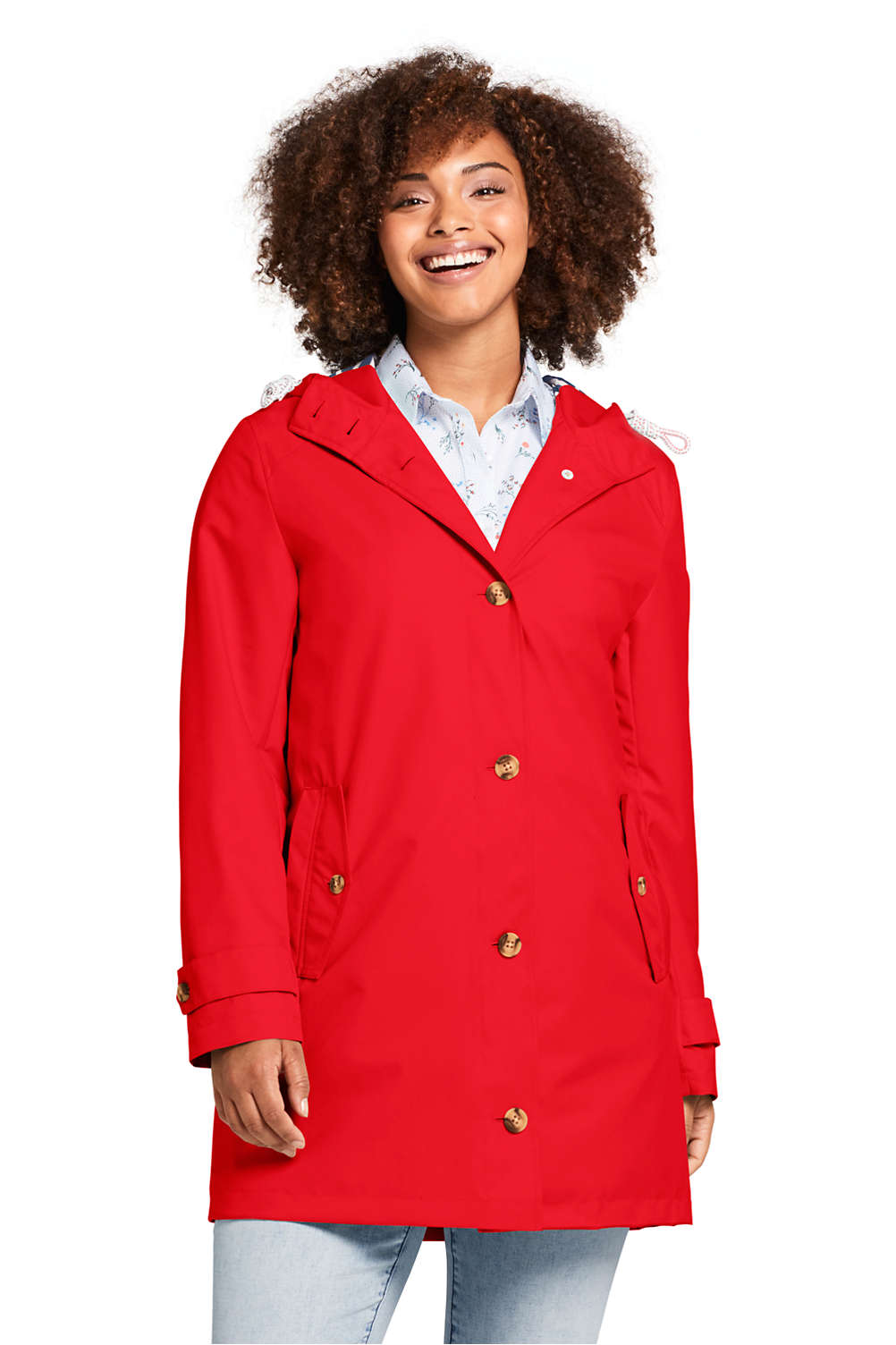 3aaa31f864620 Women s Plus Size Classic Raincoat from Lands  End