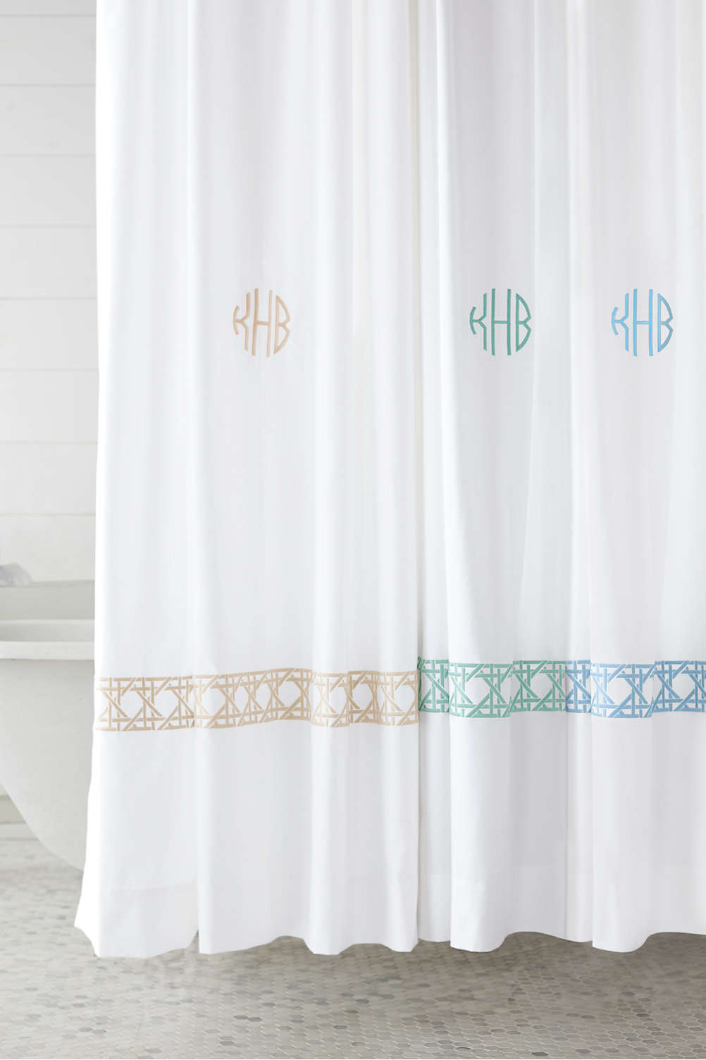 Cane Weave Embroidered Shower Curtain From Lands End