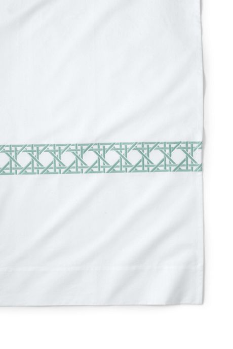 Cane Weave Embroidered Shower Curtain