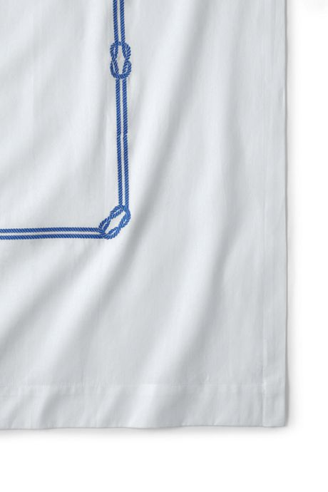 Oxford Rope Embroidered Shower Curtain