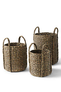 Seagrass Round Basket, Unknown