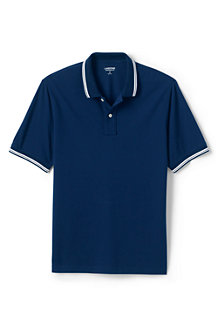 Men's Tipped Stretch Piqué Polo Shirt